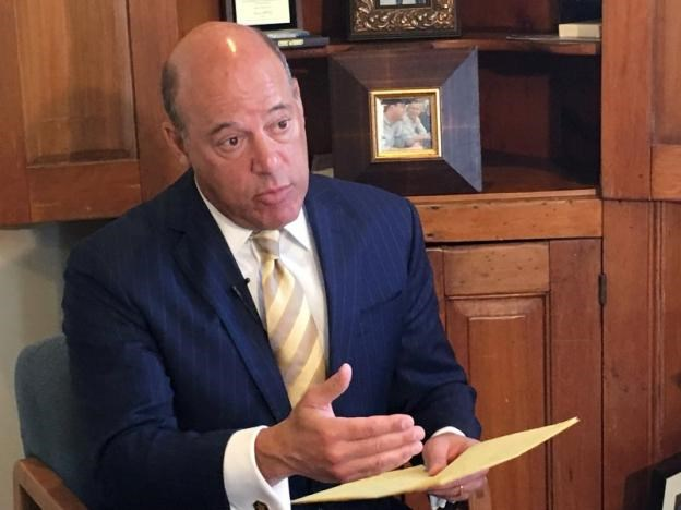 Ari Fleischer speaks during an interview with Reuters in his office in Bedford, New York, U.S. September 7, 2016. Picture taken September 7, 2016.