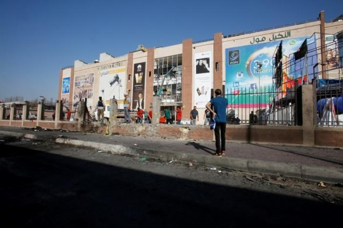 Islamic State twin suicide bombings at Baghdad mall kill 12