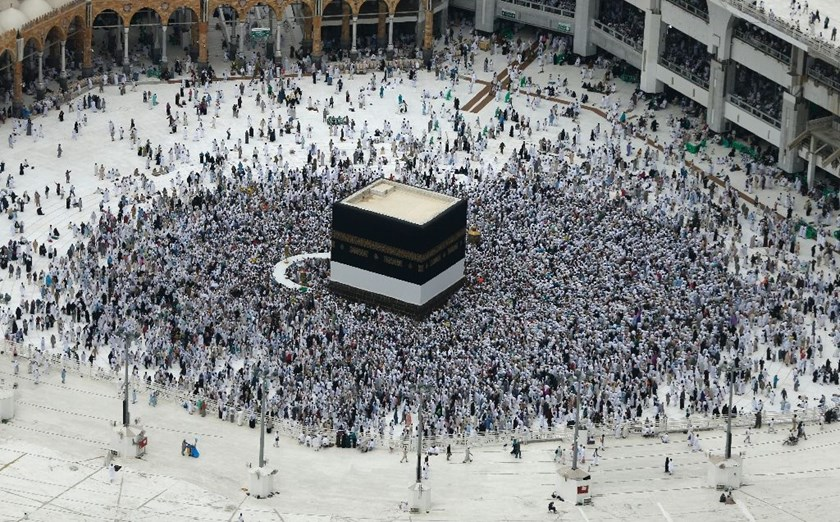 Muslim pilgrims from around the world circle around the Kaaba at the Grand Mosque in the Saudi city of Mecca on September 9, 2016