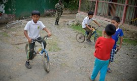In peace step, children leave rebel camps in Colombia