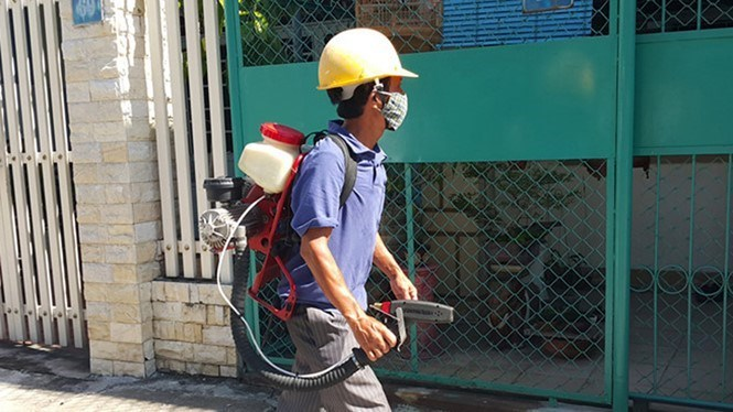 Mosquito spraying to prevent Zika spread in Vietnam. Photo: Hien Cu/Thanh Nien