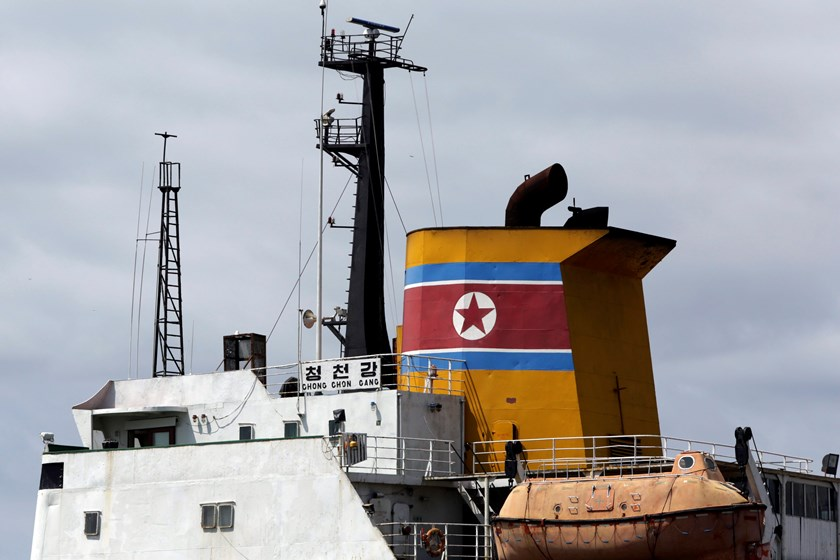 North Korean container ship Chong Chon Gang is seen at the Manzanillo International container terminal dock in Colon city in this August 14, 2013 file photo. Photo credit: Reuters