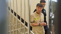 "Shout of ""murderer"" goes up in packed court as Korea ferry crew face trial"