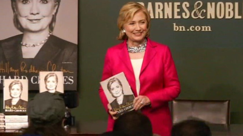 "Hillary Clinton launches ""Hard Choices"" book tour in New York City"
