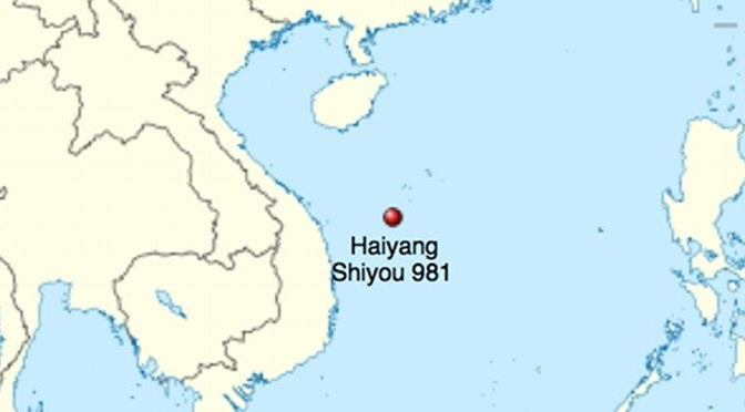 Location of the Haiyang Shiyou 981 oil platform in China - Vietnam standoff. Photo credit:  Eurasia Review