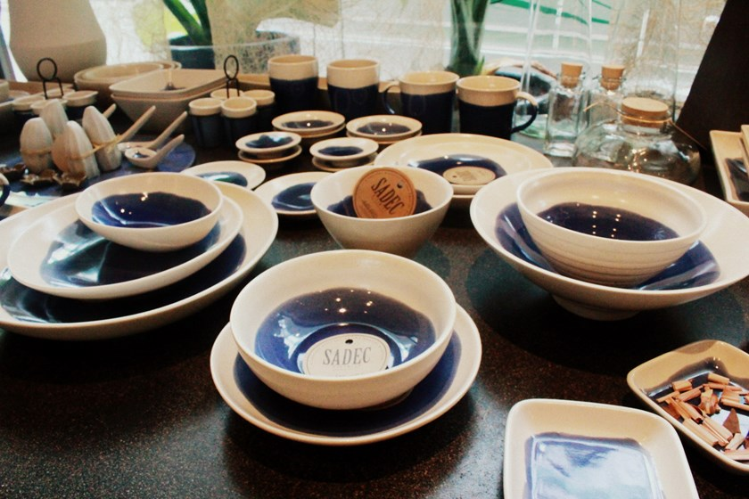 Ceramic products on display at Sadec District. Photo: Kim