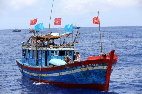 A Vietnam fishing boat operating in the Hoang Sa (Paracel) fishing ground. Photo: Doc Lap