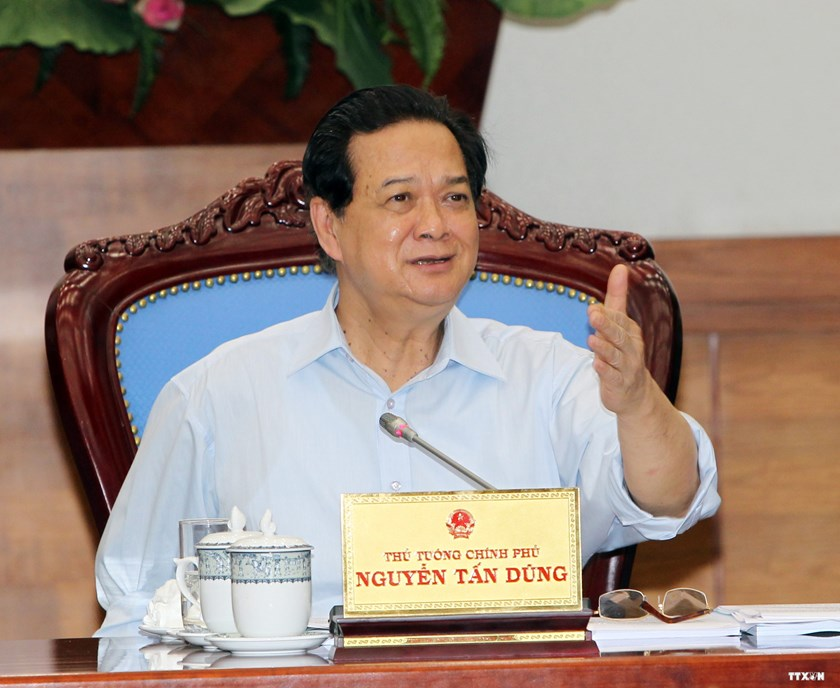 PM Nguyen Tan Dung demands that China not send any more rigs into Vietnamese waters, saying Vietnam is always determined to safeguard its sovereignty with combined power and by peaceful measures in line with international law. Photo credit: VNA