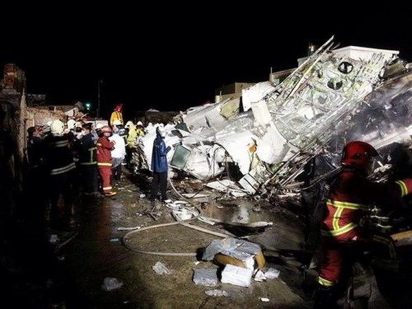 ATransAsia Airways plane crashed on landing on an island off the west coast of typhoon-hit Taiwan on July 23. Photo credit: Focus Taiwan/VNA
