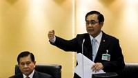 Thai Army chief General Prayuth Chan-ocha speaks during a National Legislative Assembly meeting in Bangkok August 18, 2014. Photo credit: Reuters