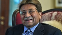 In this photograph taken November 14, 2014, Pakistan's former military ruler General Pervez Musharraf smiles during an interview with AFP in Karachi. Photo: AFP