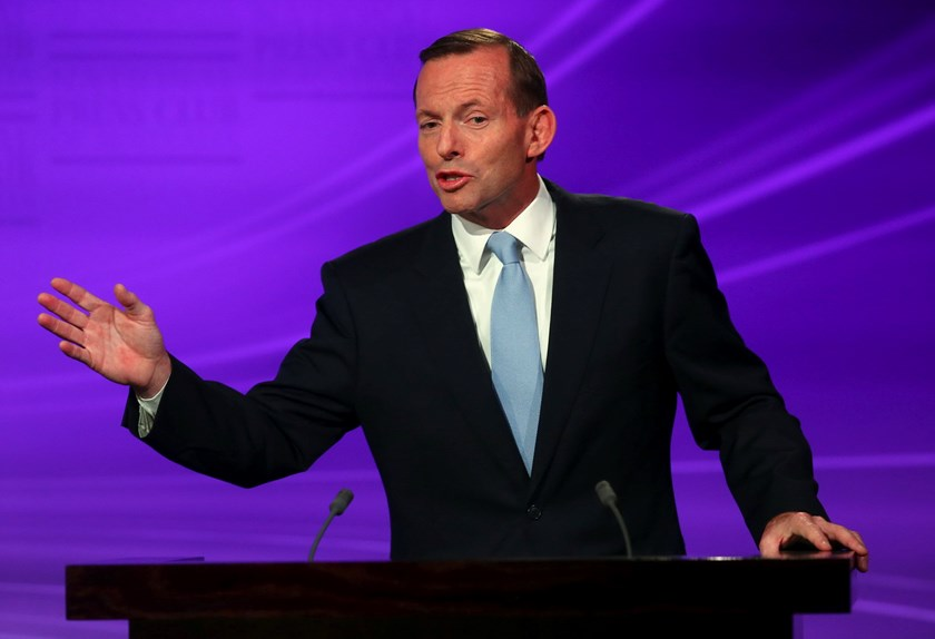 Austrlian Prime Minister Tony Abbott, shown in this August 11, 2013 file photo. Photo: Reuters