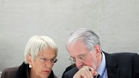 Independent investigators on war crimes in Syria Carla del Ponte and Paulo Pinheiro (R) address U.N. Human Rights Council in Geneva March 17, 2015. Photo: Reuters