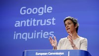European Competition Commissioner Margrethe Vestager addresses a news conference at the EU Commission headquarters in Brussels April 15, 2015. Photo: Reuters