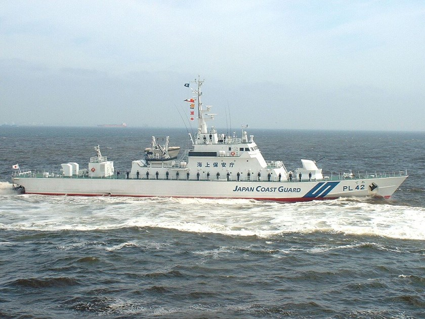 A file photo shows a Japan Coast Guard's patrol vessel. Photo: wikipedia/Japan Coast Guard