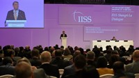 US Secretary of Defense Ashton Carter delivers his speech at the first plenary session at the 14th Asia Security Summit, the International Institute for Strategic Studies (IISS) Shangri-La Dialogue 2015 in Singapore on May 30, 2015. Photo: AFP/Roslan Rahm
