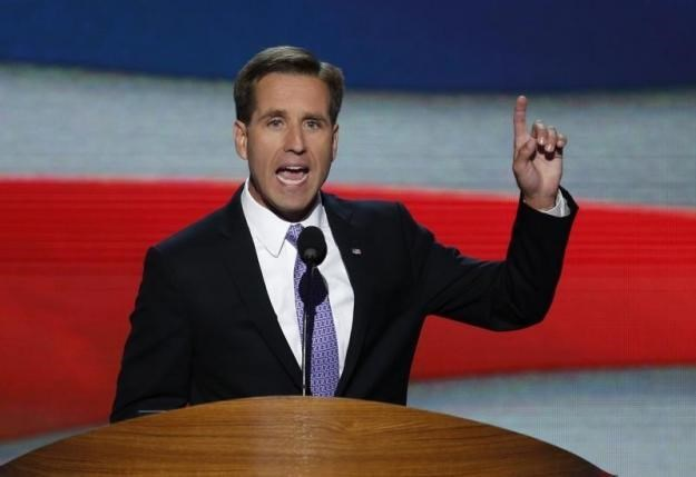 Delaware Attorney General Beau Biden, son of U.S. Vice President Joe Biden, addresses the final session of the Democratic National Convention in Charlotte, North Carolina September 6, 2012. Photo: Reuters/Jason Reed