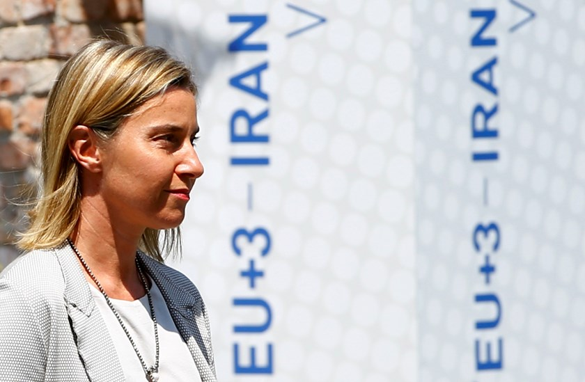 European Union foreign policy chief Federica Mogherini arrives for a press briefing outside Palais Coburg, the venue for nuclear talks in Vienna, Austria, July 7, 2015. Photo: Reuters/Leonhard Foeger