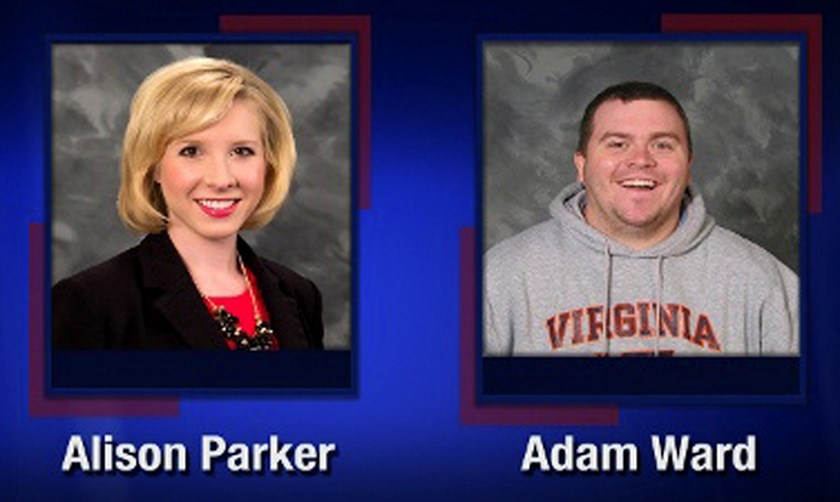 Alison Parker and Adam Ward are pictured in this handout photo from TV station WDBJ7 obtained by Reuters August 26, 2015. Parker, a WDBJ reporter, and Ward, a WDBJ photographer were shot and killed in Virginia on Wednesday morning while conducting a live interview, and authorities said the suspect appeared to be a disgruntled current or former employee of the TV station. Photo: Reuters / WDBJ7