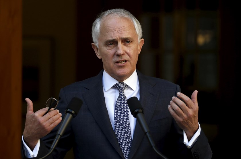 Australian Prime Minister Malcolm Turnbull announces his new federal cabinet during a media conference at Parliament House in Canberra, Australia, September 20, 2015.Photo: Reuters/David Gray