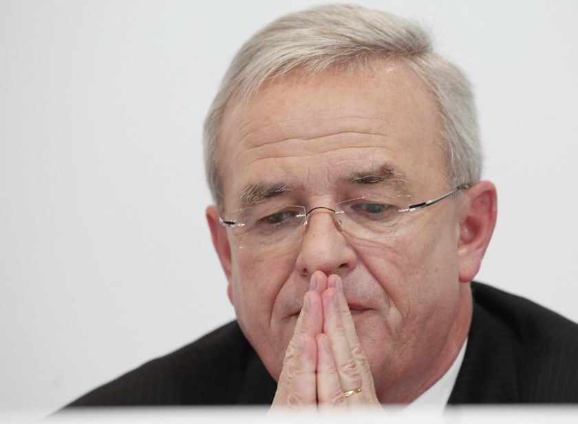 Volkswagen AG's Chief Executive Officer Martin Winterkorn pauses during the Porsche SE annual news conference in Stuttgart, Germany, in this November 25, 2009 file photo. Winterkorn faced a reckoning with his board on Wednesday, summoned to explain how the company falsified U.S. emissions tests in the biggest scandal in the 78-year history of the world's largest car maker. Photo: Reuters/Johannes Eisele/Files