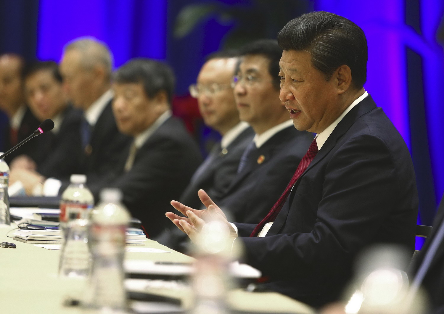 On U.S. visit, China's president seeks to reassure on trade, security