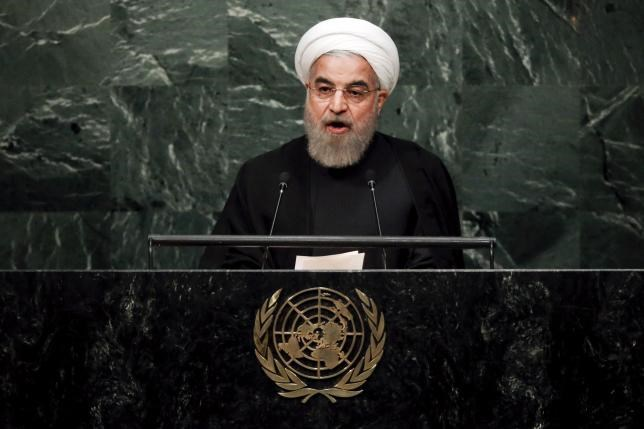Iran's President Hassan Rouhani addresses a plenary meeting of the United Nations Sustainable Development Summit 2015 at the United Nations headquarters in Manhattan, New York September 26, 2015. Photo: Reuters/Carlo Allegri