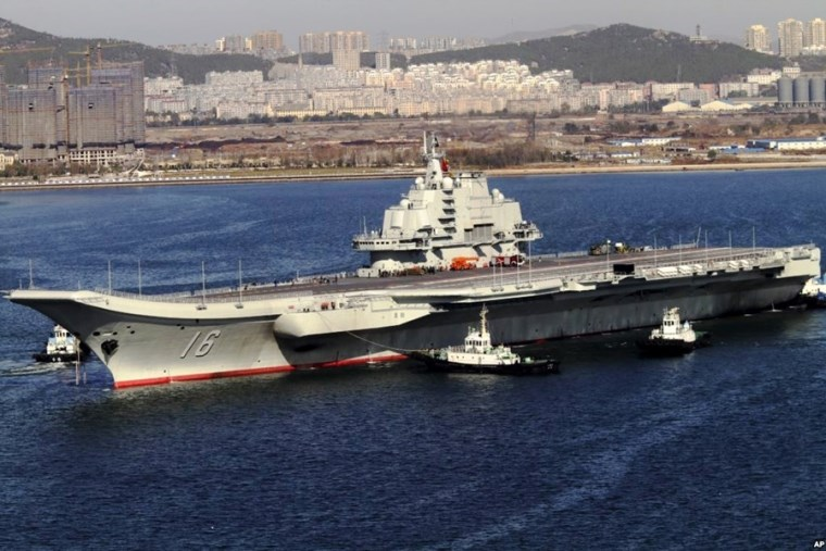 China's aircraft carrier Liaoning cruises back to port after a sea trial in Dalian, China. Photo: Wikipedia