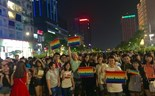 People attending a parade organized in Ho Chi Minh City in June 2015 to call for rights for the LGBT community. Photo: Minh Hung