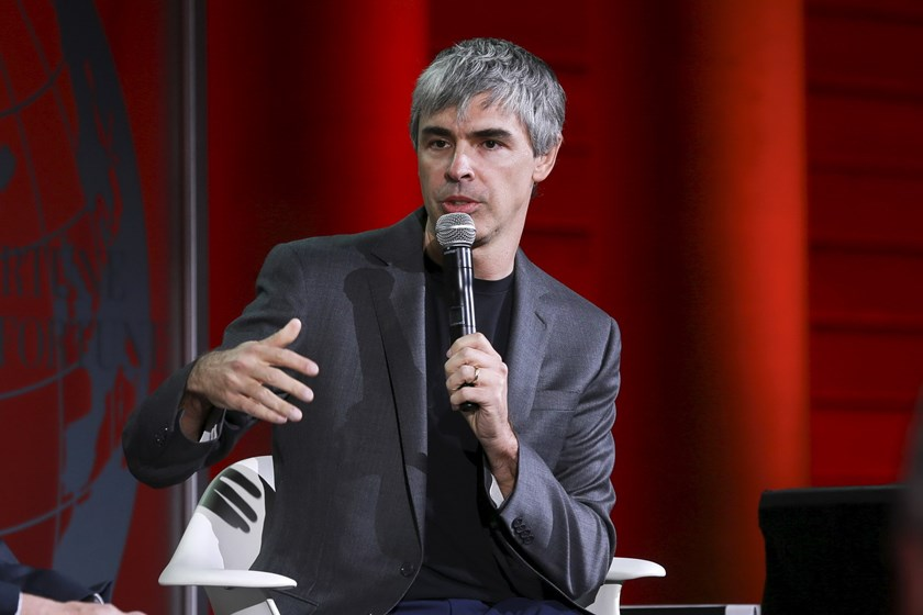 Larry Page, CEO and Co-founder of Alphabet, participates in a conversation with Fortune editor Alan Murray at the 2015 Fortune Global Forum in San Francisco, California November 2, 2015. Photo: Reuters/Elijah Nouvelage