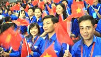 Vietnamese students take part in the16th Vietnam-China Youth Friendship Meeting, held in Hanoi November 4-9. Photo: VNA