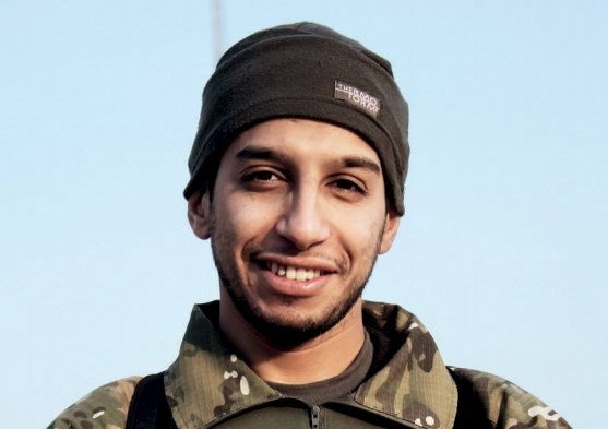 An undated file photograph of a man described as Abdelhamid Abaaoud that was published in the Islamic State's online magazine Dabiq and posted on a social media website.