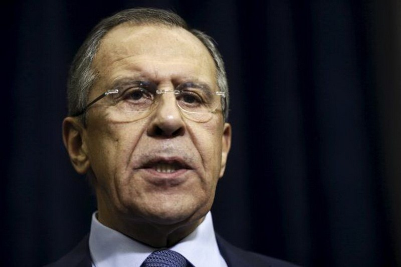 Russian Foreign Minister Sergei Lavrov talks to reporters after a meeting of Russian President Vladimir Putin with Jordan's King Abdullah at the Bocharov Ruchei state residence in Sochi, Russia November 24, 2015. Photo: Reuters/Maxim Shipenkov/Pool