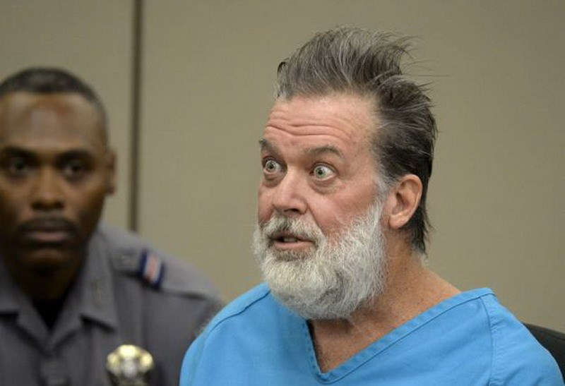 Robert Lewis Dear, 57, accused of shooting three people to death and wounding nine others at a Planned Parenthood clinic in Colorado last month, attends his hearing to face 179 counts of various criminal charges at an El Paso County court in Colorado Springs, Colorado December 9, 2015. Photo: Reuters/Andy Cross/Pool
