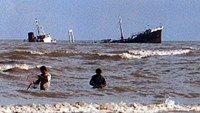 Dozens rescued floating at sea after abandoning Indonesian ferry