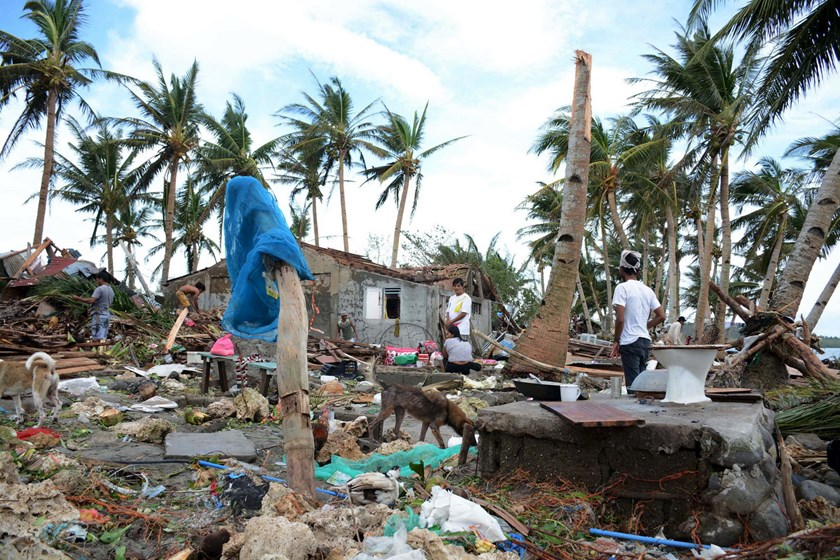 by typhoon Melor battered Barcelona town, Sorsogon province, central Philippines December 15, 2015. Photo: Reuters/Renelyn Loquinario