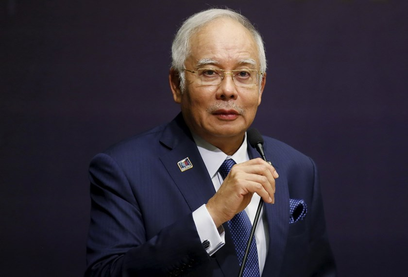 Malaysia's Prime Minister Najib Razak speaks at the opening of the International Conference on Deradicalization and Countering Violent Extremism in Kuala Lumpur, Malaysia, in this January 25, 2016 file photo. Photo: Reuters/Olivia Harris/Files