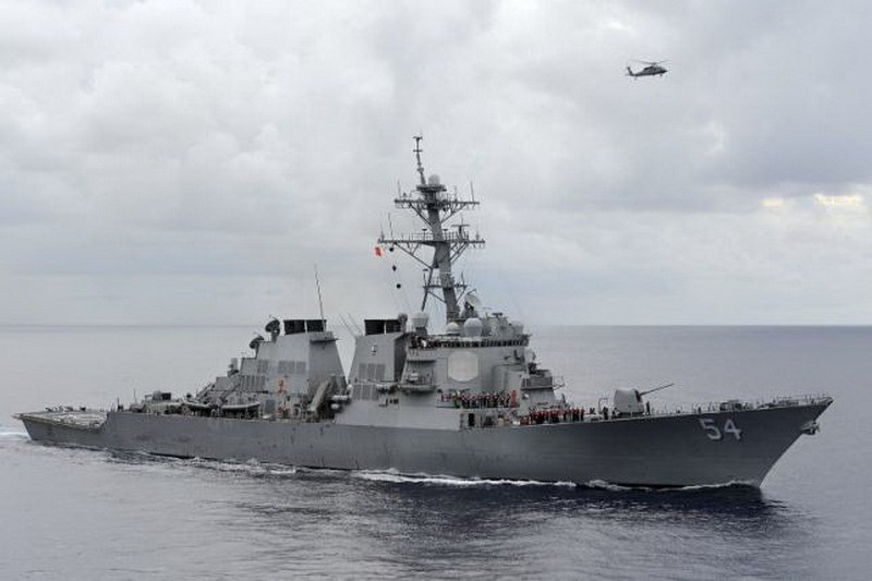 The U.S. Navy guided-missile destroyer USS Curtis Wilbur patrols in the Philippine Sea in this August 15, 2013 file photo. Photo: Reuters/U.S. Navy/Mass Communication Specialist 3rd Class Declan Barnes/Handout via Reuters/Files