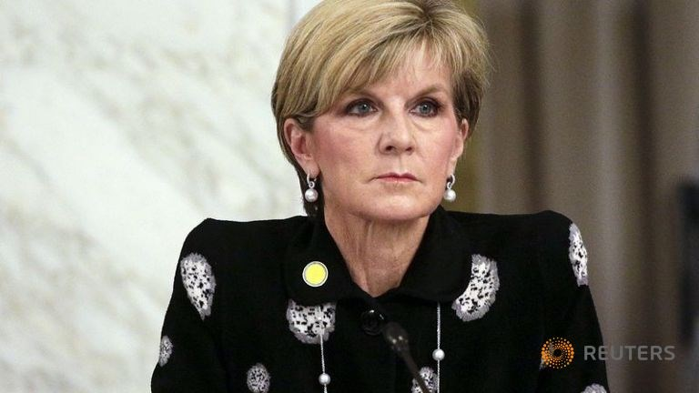 Australian Foreign Minister, Julie Bishop looks on during a ministerial meeting regarding the Islamic State group in Rome, Italy, February 2, 2016. Photo: Reuters/Max Rossi