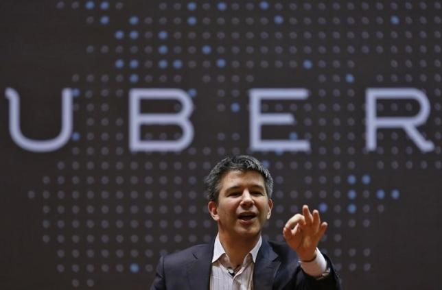 Uber CEO Travis Kalanick speaks to students during an interaction at the Indian Institute of Technology (IIT) campus in Mumbai, India, January 19, 2016. Photo: Reuters/Danish Siddiqu