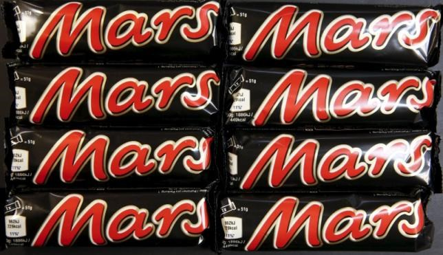 Mars bars are seen in this picture illustration taken February 23, 2016. Photo: Reuters/Fabrizio Bensch/Illustration