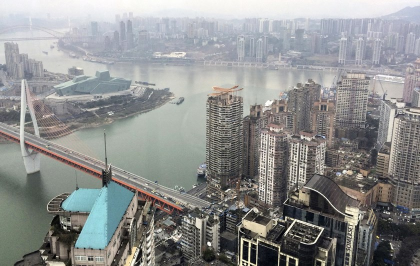 The junction of Yangtze River and Jialing River is pictured in Chongqing, China, January 25, 2016. Photo: Reuters/Sue-Ling Wong