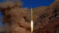 A ballistic missile is launched and tested in an undisclosed location, Iran, in this handout photo released by Farsnews on March 9, 2016. Photo: Reuters/farsnews.com/Handout via Reuters