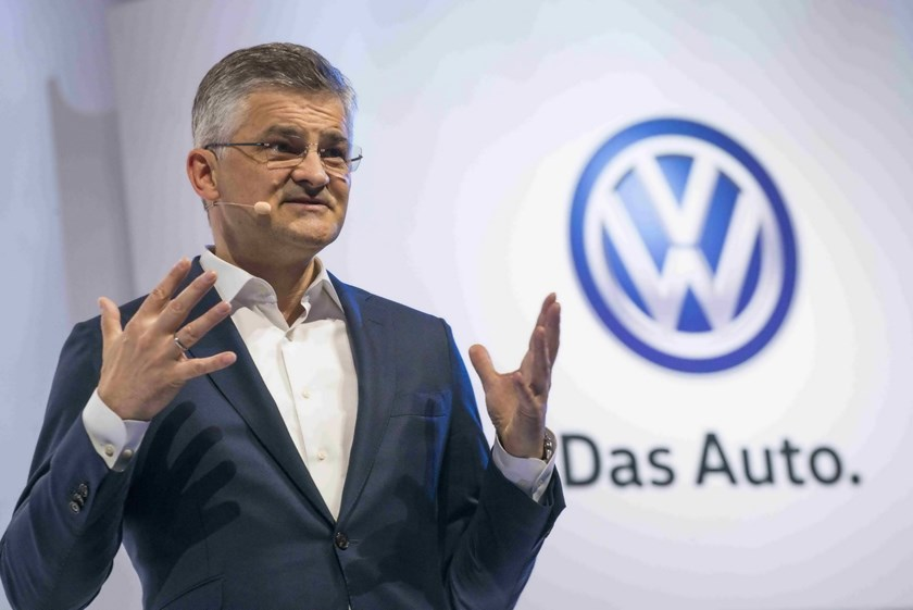 Michael Horn, President and CEO of Volkswagen Group of America, speaks during the 2016 Volkswagen Passat reveal in the Brooklyn borough of New York in a September 21, 2015 file photo. Photo: Reuters/Darren Ornitz/Files