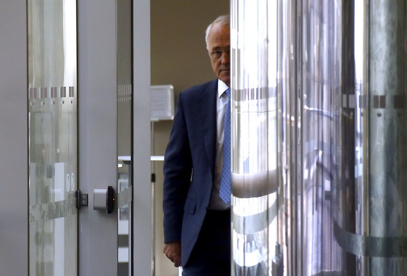Australian Prime Minister Malcolm Turnbull walks to a media conference in Sydney, Australia, March 23, 2016. Photo: Reuters/David Gray