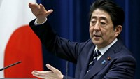 Japan's Prime Minister Shinzo Abe attends a news conference at his official residence in Tokyo, Japan, March 29, 2016. Photo: Reuters/Yuya Shino