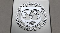 The International Monetary Fund (IMF) logo is seen at the IMF headquarters building during the 2013 Spring Meeting of the International Monetary Fund and World Bank in Washington, April 18, 2013.Photo: REUTERS/YURI GRIPAS