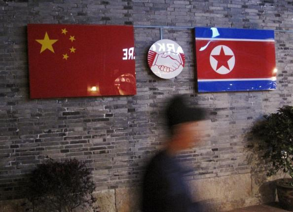 Flags of China and North Korea are seen in Ningbo, Zhejiang province, China, in this April 12, 2016 file photo. Photo: Reuters/Joseph Campbell/Files