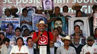Felipe de la Cruz, spokesman of the parents of the missing students of the Ayotzinapa teacher's training college, speaks during a news conference following the final report on the 43 missing students by Inter-American Commission on Human Rights (IACHR), in Mexico City, Mexico, April 25, 2016. Photo: Reuters/Ginnette Riquelme