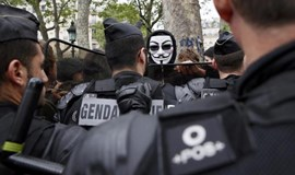 France hit by rail strike, demo by weary police